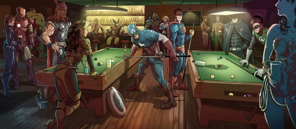 4261901-marvel-vs-dc-comic-characters-tension