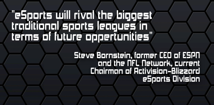 esports will rival the biggest sports leagues in terms of future oppertunities