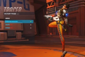 Overwatch character Tracer now has a new pose following last week's shenanigans