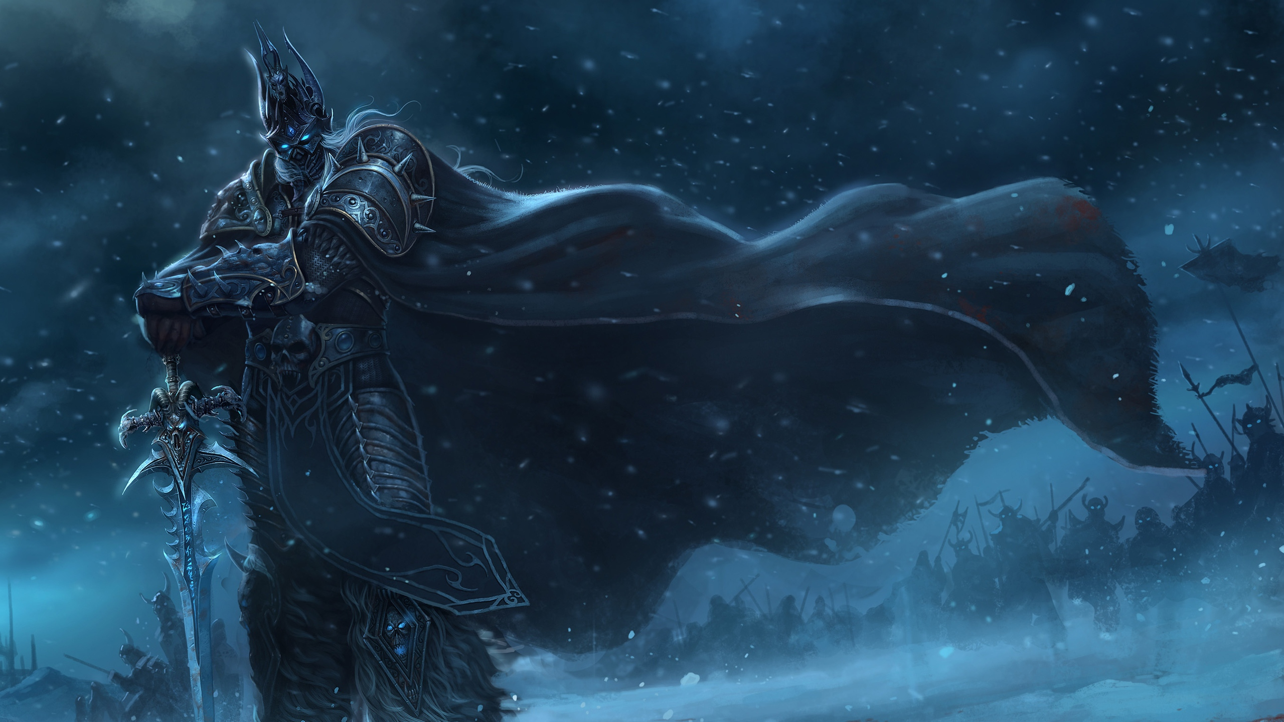 warcraft_lich_king_sword_cloak_snow_cold_16255_2560x1440